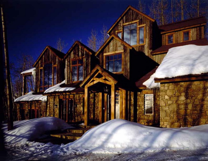 Telluride Mountain Village, all wood and stone reclaimed. Construction by Richard Wodehouse.
