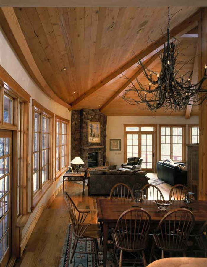 Telluride Co. curved walls and reclaimed wood, managed by Richard Wodehouse.