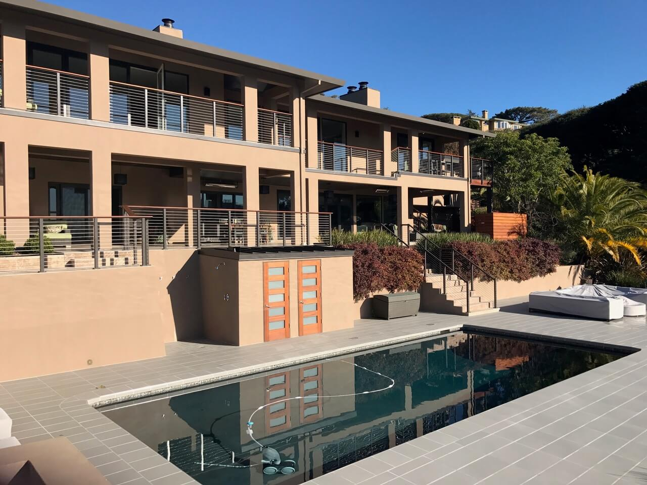 Dated home remodeled to contemporary home in Tiburon